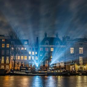 Light festival Amsterdam by 'Monique Smit - City,  Street & Park  Night ( light festival, amsterdam,  )
