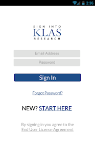 KLAS - screenshot