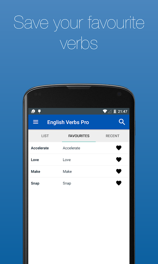 English Verb Conjugator Pro Screenshot 5