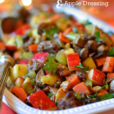 Sausage, Mushroom and Apple Dressing