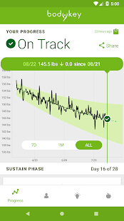 BodyKey SmartLoss™ Fitness app screenshot 1 for Android
