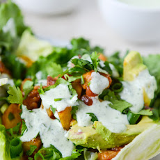 Lettuce Tacos With Chipotle Chicken And Grilled Pineapple Salsa Recipe ...