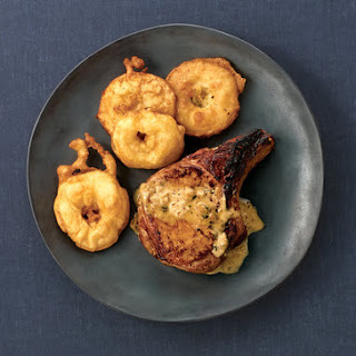 Pan-Roasted Pork Chops With Apple Fritters