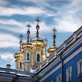 Imperial Chapel at Peterhof Palace !  by Nelida Dot - Buildings & Architecture Places of Worship ( palace, gold, colour, russia, church, orthodox )