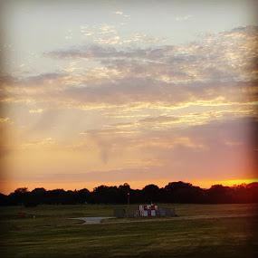 Sunset by Suzette Christianson - Landscapes Sunsets & Sunrises