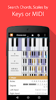Screenshot of Piano Companion: chords,scales