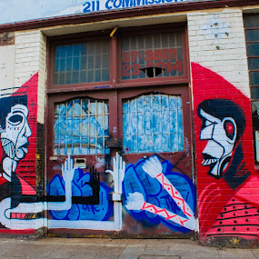 Doorway by Jean Plessis - City,  Street & Park  Street Scenes ( grafitti, urban, johannesburg, street, city )