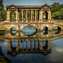 Palladian Bridge by Mandy Hedley - Buildings & Architecture Architectural Detail ( pallaidian, pryor, park, architectural, bridge )