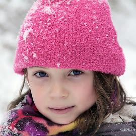 Lavender by Sandy Considine - Babies & Children Child Portraits ( pink hat, young girl, lavender )