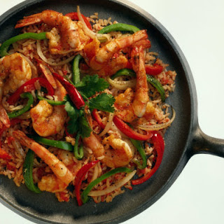 Spicy Garlic and Pepper Shrimp Stir-Fry