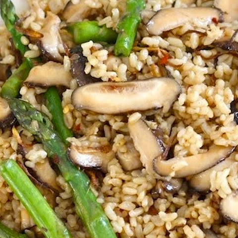 Shiitake Mushroom Brown Rice with Crispy Ginger