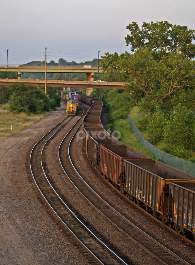 MO River Front Tracks by Kevin Anderson - Transportation Trains