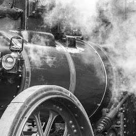 Steam Power by Jenna Keyes - Transportation Trains ( rally, engine, vintage, transport, steam )