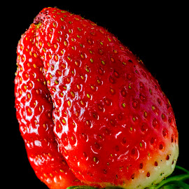 strawberry by Marcel Varga - Food & Drink Fruits & Vegetables ( isolated, juicy, fruit, colorful, green, texture, beautiful, white, leaf, health, strawberry, berry, organic, macro, red, color, fresh, food, strawberries, background, ripe, healthy, freshness, natural, closeup )