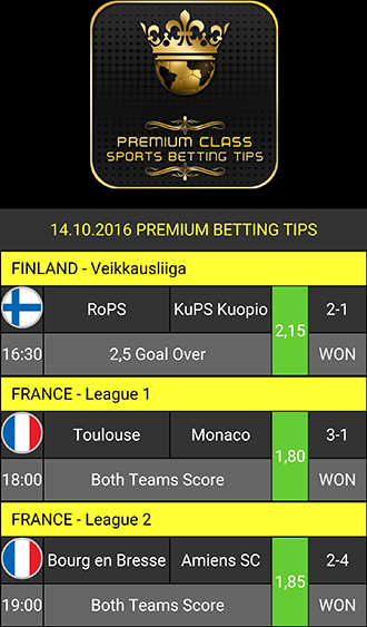 Betting Tips: Premium Class Screenshot 0