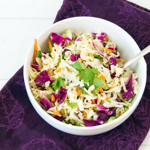 Mayo-less Coleslaw With Ramen Noodles