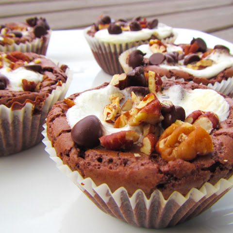 Melt in Your Mouth Rocky Road Cupcakes