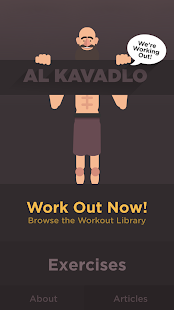 We're Working Out - Al Kavadlo Fitness app screenshot for Android