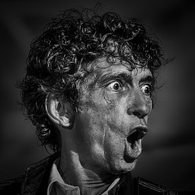 The Jagger Look - B&W by Garry Dosa - Black & White Portraits & People ( concert, person, b&w, black and white, lips, entertainment, man, portrait, eyes )