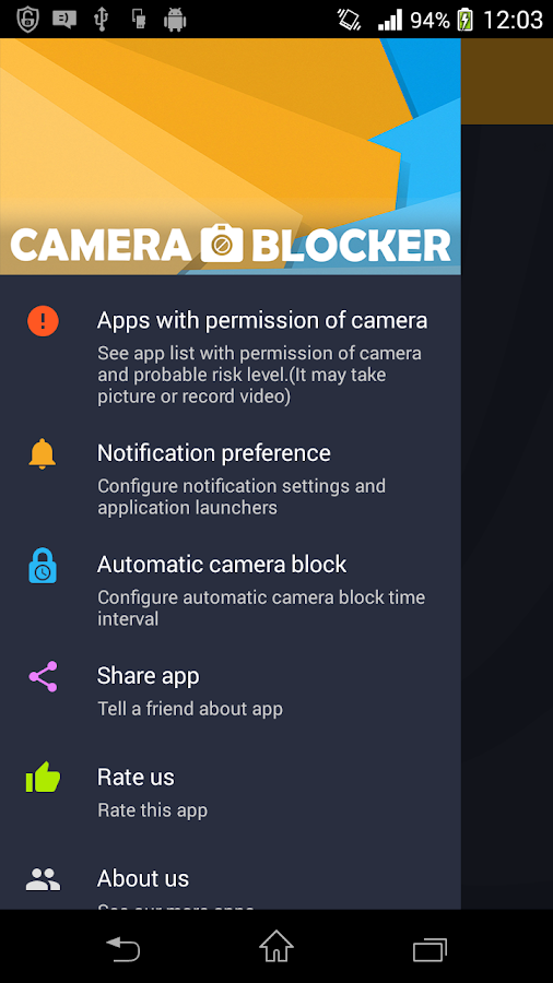 Camera Blocker - Anti Spyware Screenshot 2