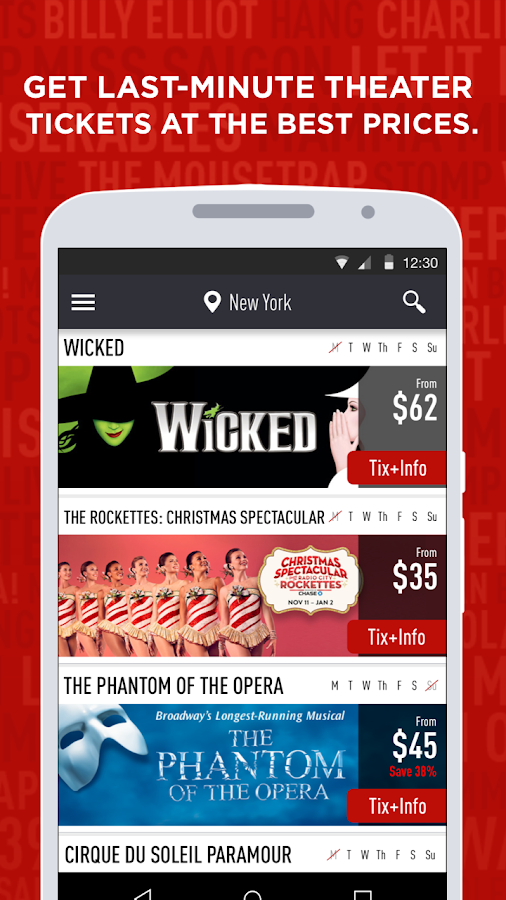 TodayTix – Theater Tickets Screenshot