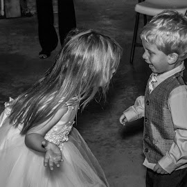 Why wont you dance? by Matthew Lemke - Babies & Children Children Candids ( wedding photography, hdr, black and white, wedding, beautiful, funny, kids, cute,  )