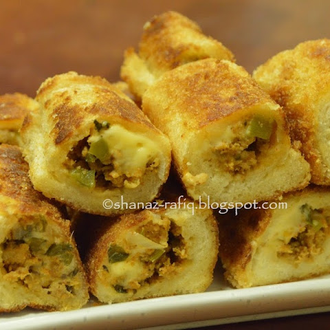 Mince & Cheese Bread Roll Ups