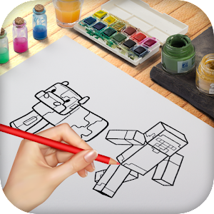 how to draw Minecraft Pictures step by step ! APK Icon