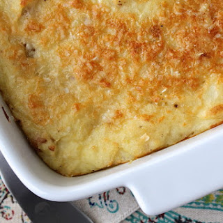 Horseradish Mashed Potatoes with Parmesan Cheese