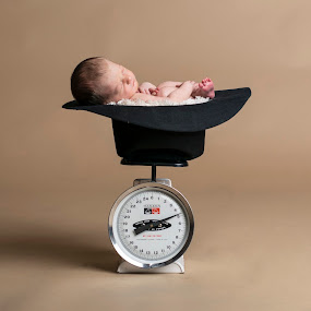 Cowgirl Scale by Nicole Ferris - Babies & Children Babies ( cowgirl hat, scale, weight, baby girl, newborn )