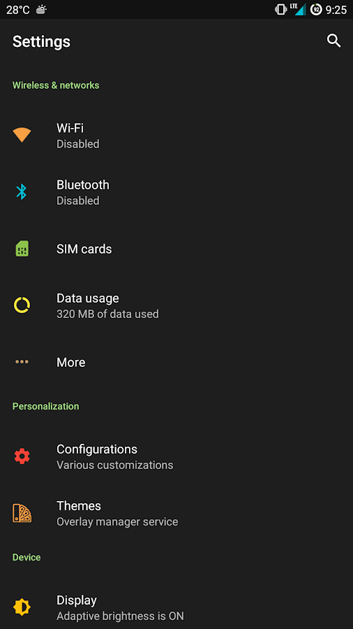 [Substratum]Pastel Dark Theme Screenshot 1