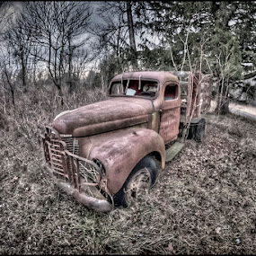 Red Truck  by Bruce Martin - Transportation Automobiles