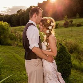 Sunset Smooch by Jen Cornell - Wedding Bride & Groom