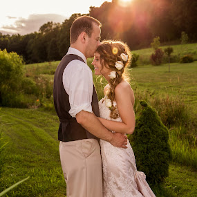 Sunset Smooch by Jen Cornell - Wedding Bride & Groom (  )