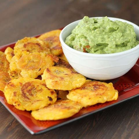 Basic Guacamole and Tostones