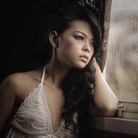 The Endless Wait by Lucky E. Santoso - People Portraits of Women