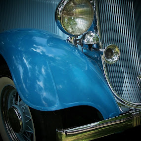 Old Blue by Christy Leigh - Transportation Automobiles ( car, classic car, vintage, cars, automobile, blue car, auto, classic )