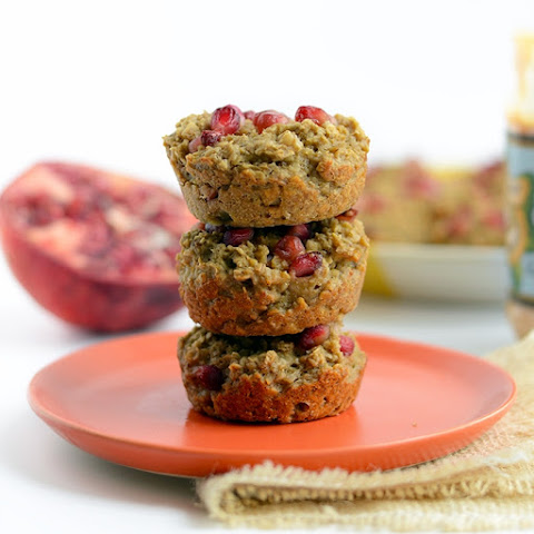 Pomegranate Oatmeal Snack Cups