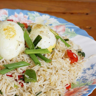 egg fried rice with boiled eggs | Indian egg fried rice