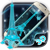 APK App Neon Eiffel Tower 3D Launcher for BB, BlackBerry