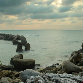 The Rock by Jenni Ertanto - Nature Up Close Rock & Stone ( water, nature, sea, rock, landscape )