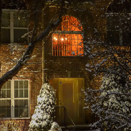 Happy Holidays by Dave Walters - Buildings & Architecture Homes ( tn, winter, lighting, colors, nashville, snow, Christmas, card, Santa, Santa Claus, holiday, holidays, season, Advent )