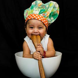 Head Chef by Frank DeChirico - Babies & Children Child Portraits