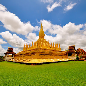 Buddha majesty  by Mishesh Ramesh - Landscapes Travel ( temple, sky, god, bones, art )