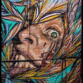 Scared! by Mark Hundt - City,  Street & Park  Street Scenes