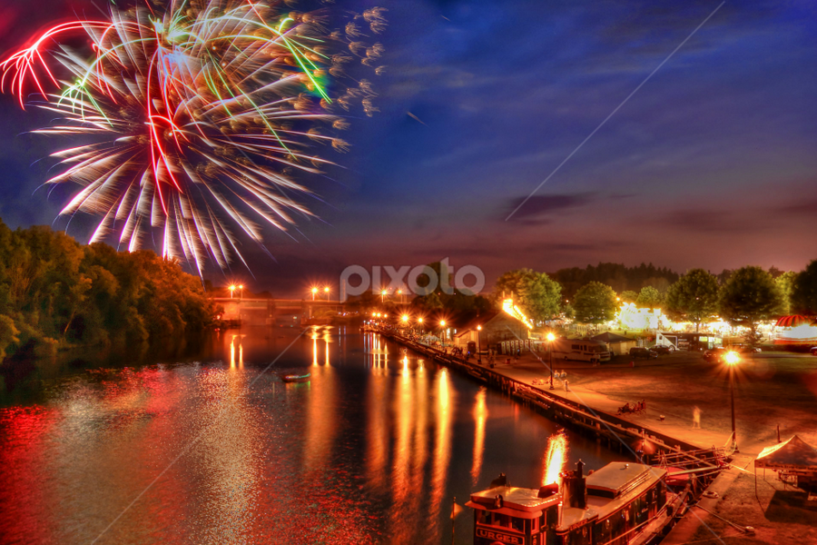 End of summer by Blaine Stauffer - City,  Street & Park  City Parks ( fireworks, fire, new year, dipawali, diwali, 2014,  )