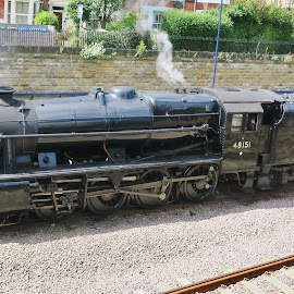 Steam express by Eloise Rawling - Transportation Trains ( scarborough, station, steam train, rail )