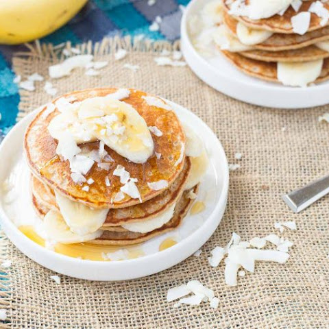 Banana Coconut Blender Pancakes