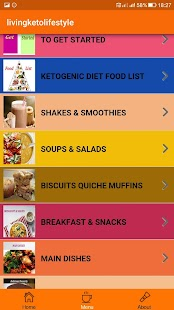 Living Keto Life Style Fitness app screenshot for Android