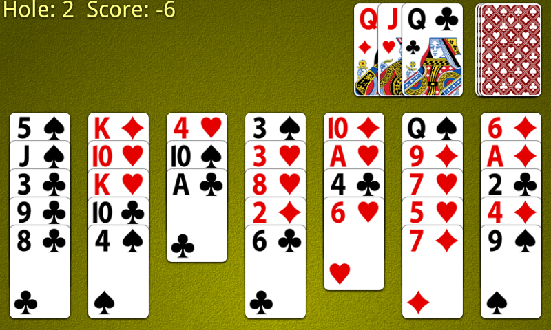 Golf Solitaire Screenshot